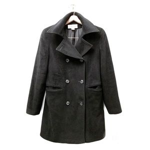 CALVIN KLEIN Vintage Black Double Breasted Peacoat